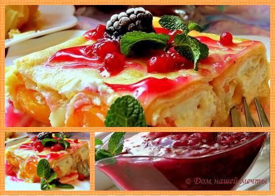 блинный торт рецепт сладкий