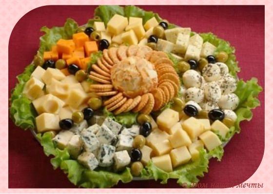 как правильно оформить сырную тарелку