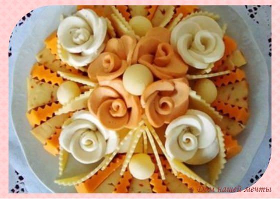 украшение сырной тарелки