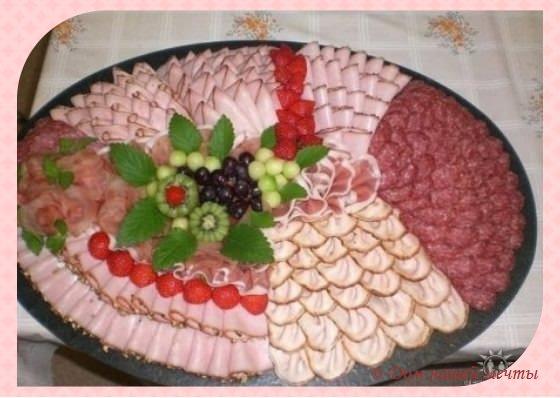 как украсить мясную тарелку