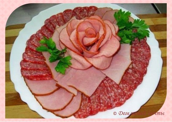 как украсить мясную тарелку фото