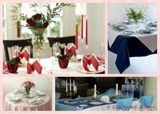 цветы при сервировке стола