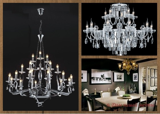 Выбор дизайнеров: современные люстры в интерьере дома