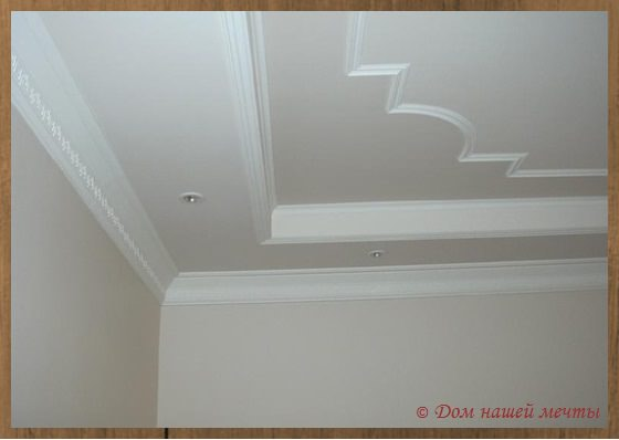 потолок с побелкой
