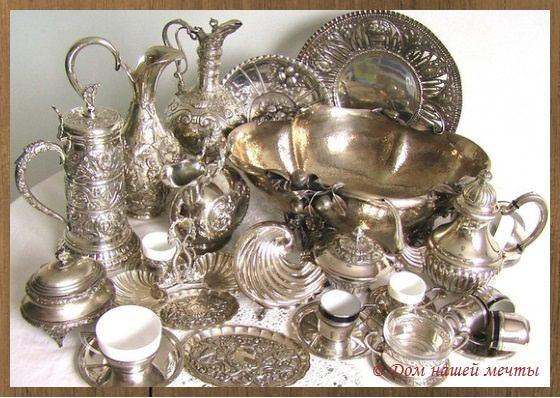 столовая посуда из серебра