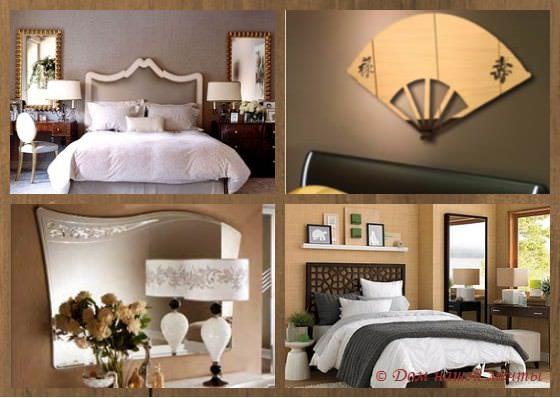 настенные зеркала для спальни