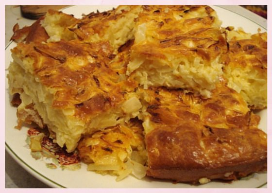 Капусный пирог калорийность