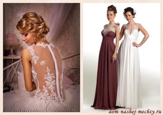 какие бывают цвета платьев свадебных