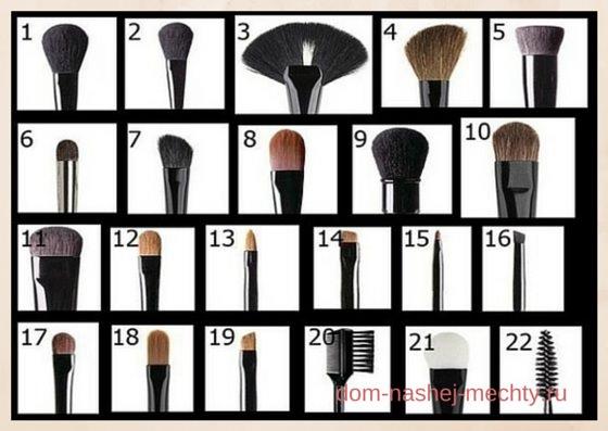 инструменты для макияжа описание