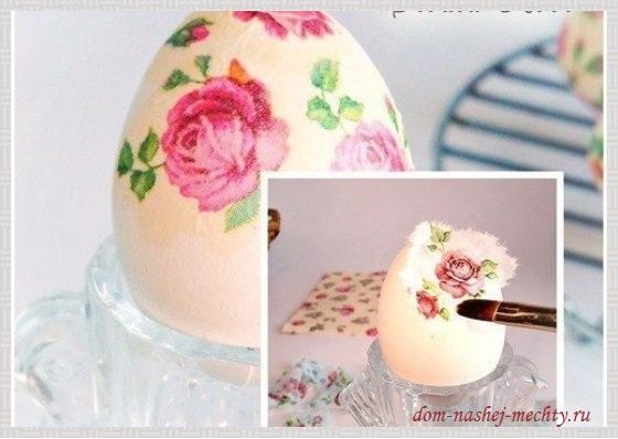 Пасхальные яйца декупаж фото