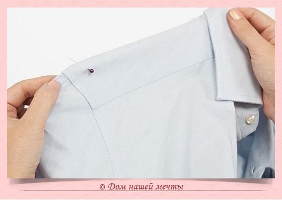платье из мужской рубашки