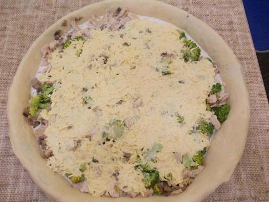 лоранский пирог с брокколи и курицей рецепт