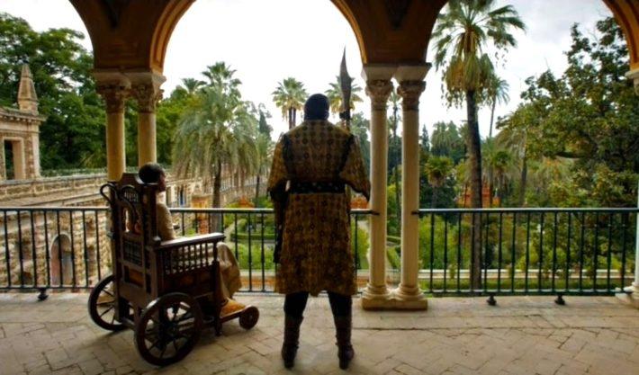 Королевский сад Алькасар в Севилье, Испания
